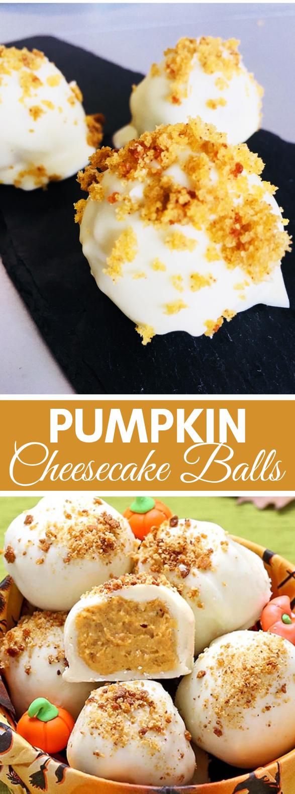 Pumpkin Cheesecake Balls #desserts #creamcheese