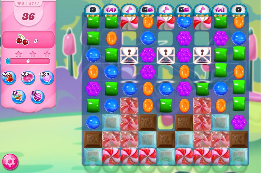 Candy Crush Saga level 8714