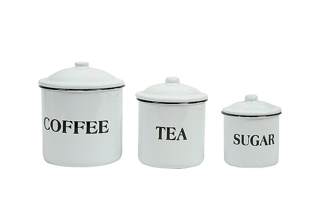 enamel farmhouse canisters Amazon