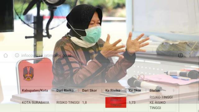 Risma Bilang Surabaya Masuk Zona Hijau, Epidemiolog: Tidak, Masih Zona Merah