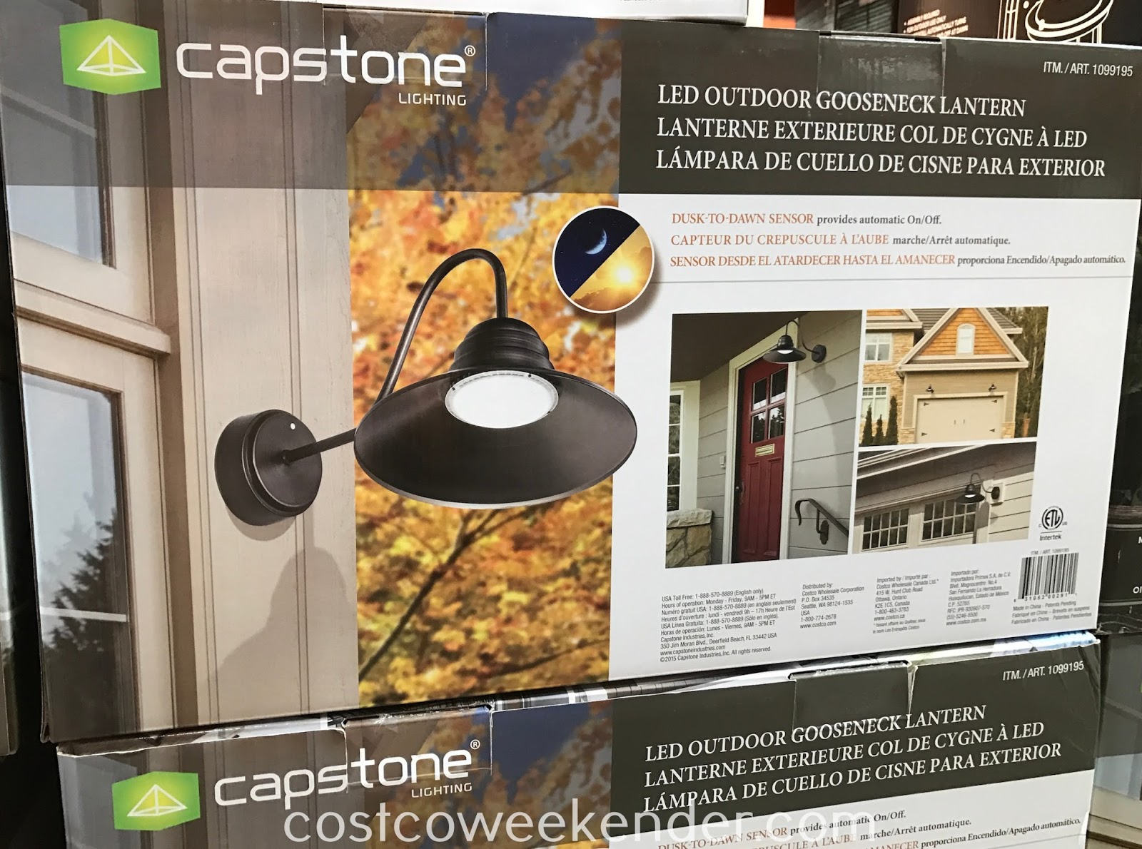 Ensure the outside of your house is well lit with the Capstone LED Outdoor Gooseneck Lantern