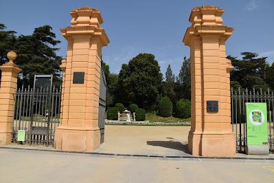 Jardines del palacio de Pedralbes... Barcelona, Cataluña, España..