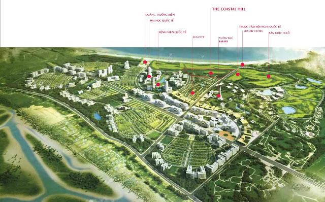 Vị trí LUX CITY trong tổng thể dự án FLC QUY NHƠN