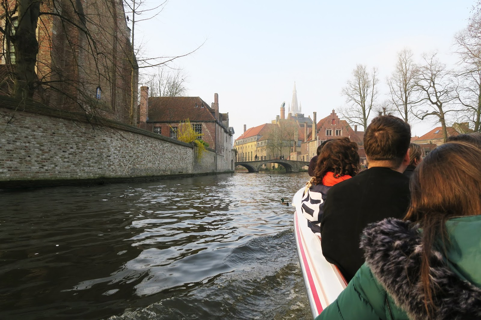 View from the boat trip in Bruges