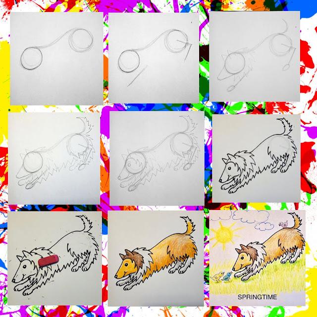 Draw your pet step-by-step prompt by Gail Diedrichsen. Image credit  Gail Diedrichsen.