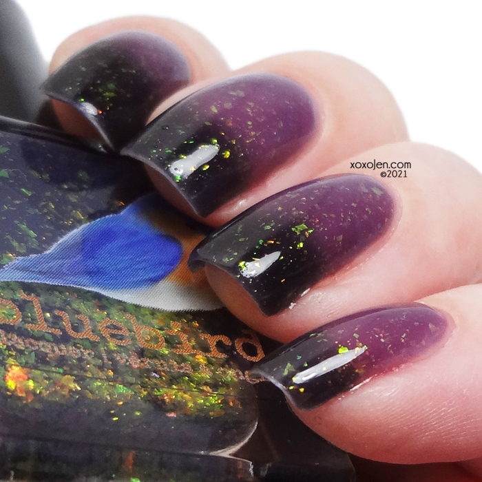 xoxoJen's swatch of Bluebird Lacquer Itchy Costume Rash