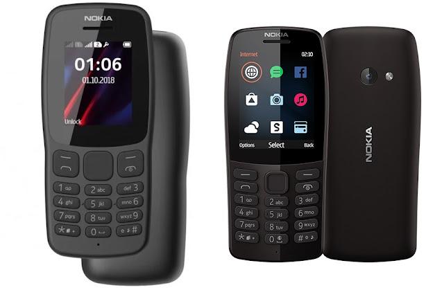 Nokia 106 vs Nokia 210