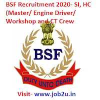 BSF Recruitment 2020, SI, HC,CT Crew