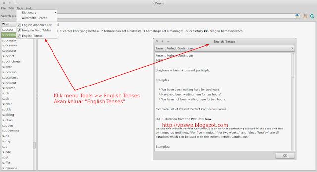 gKamus - Aplikasi Kamus Inggris Indonesia di Linux