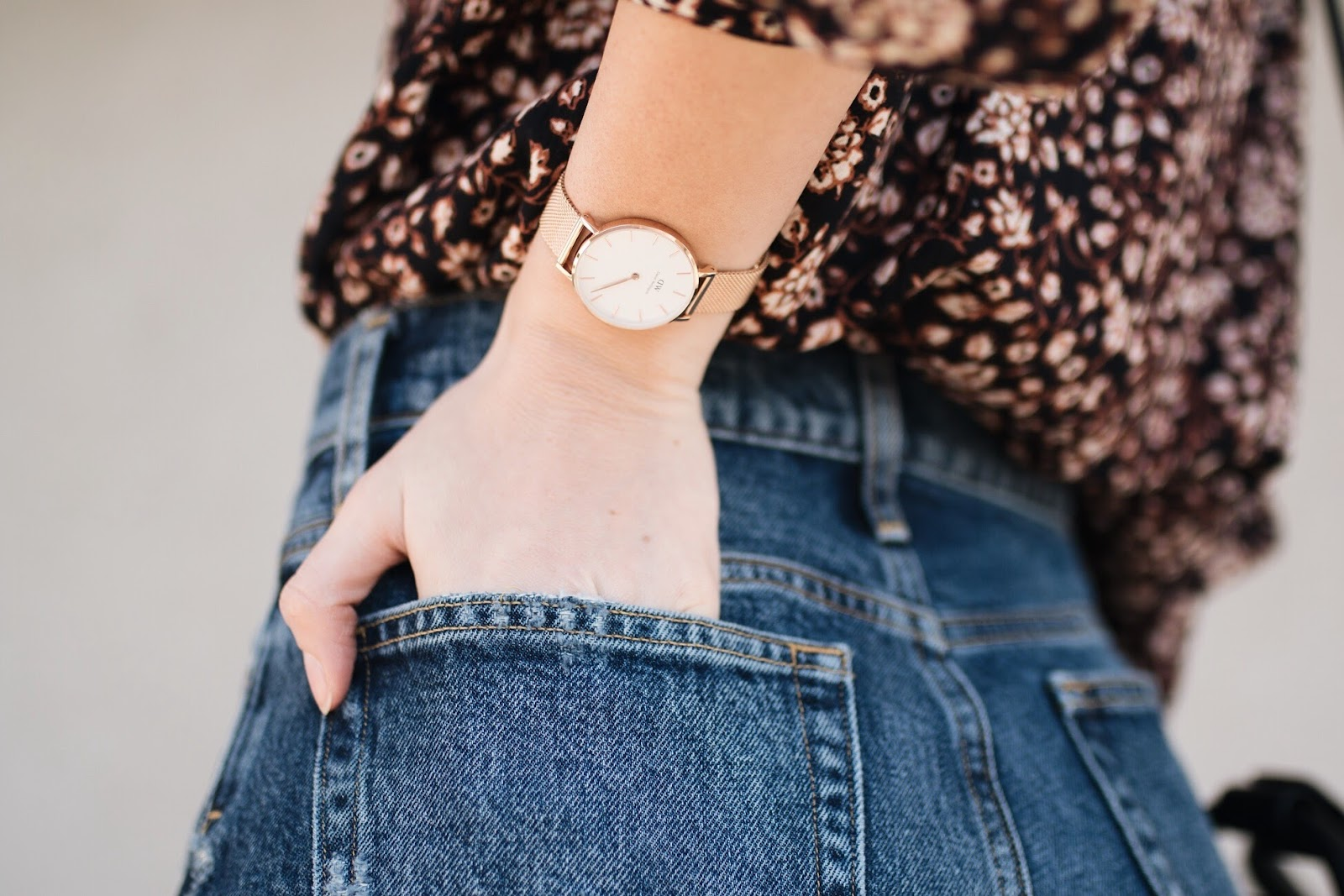 Daniel Wellington 'classic petite' rose gold watch
