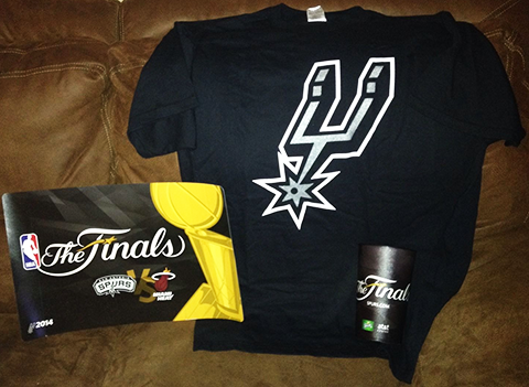 Spurs 2014 Finals Game 1 T-Shirt
