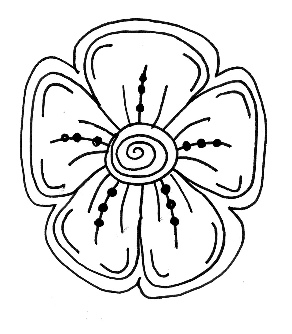 Makers And Shakers HOW TO Draw Doodle Flowers