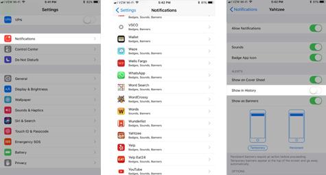 Cara Memblokir Aplikasi Tertentu Yang Muncul di Riwayat Pemberitahuan Anda di iOS 11 1