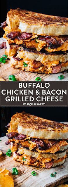 Hot Buffalo Chicken as well as Bacon Grilled Cheese Hot Buffalo Chicken as well as Bacon Grilled Cheese