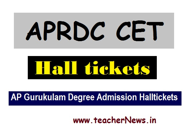APRDC 2020 Hall Tickets aprjdc.apcfss.in | AP Gurukulam Degree Admission Halltickets 2020