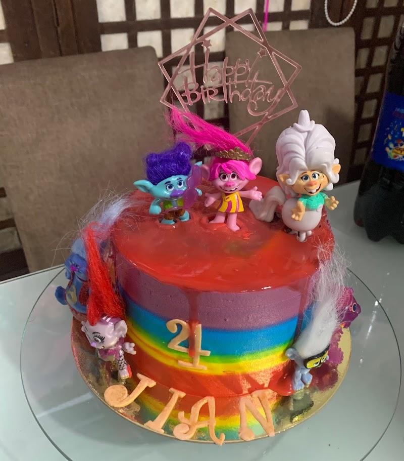 Rainbow cake by Mitch Naza
