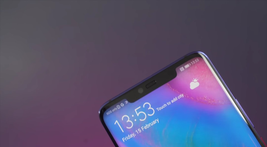 Huawei Mate 20 Pro Notch display