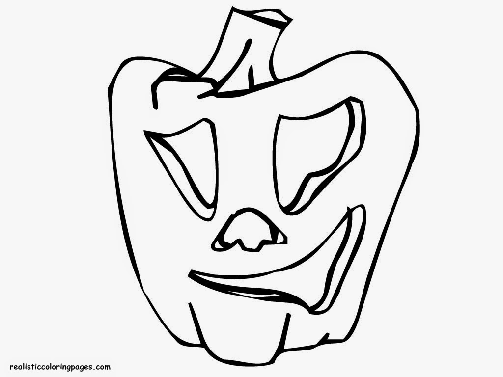 faceless pumpkin coloring pages - photo#14