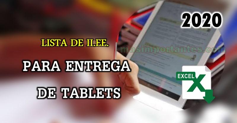entrega de tablets 2020