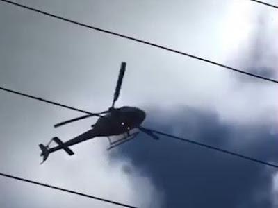 Vídeo: Oficial da PM usa helicóptero da Ciopaer para acenar para namorada e é afastado do cargo