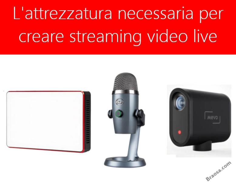 Creare streaming video live, quale attrezzatura conviene.