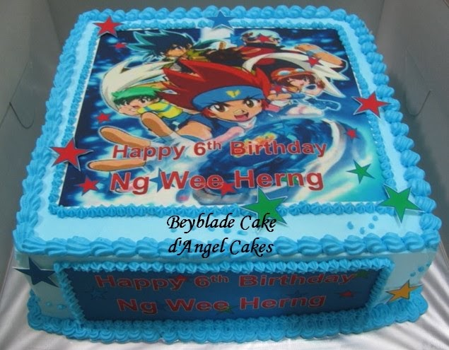 D Angel Cakes Beyblade Cake For Ng Wee Herng