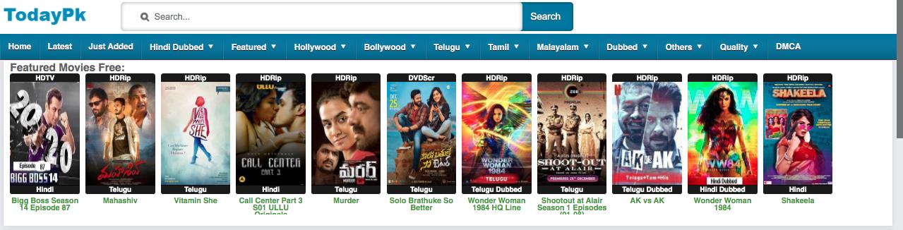 TodayPk latest Telugu movies online