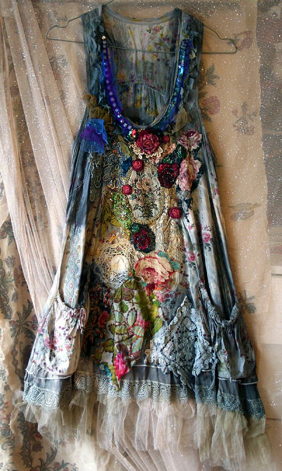 a beautiful handmade gypsy dress