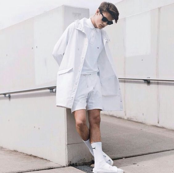 Look Masculino todo Branco, All White