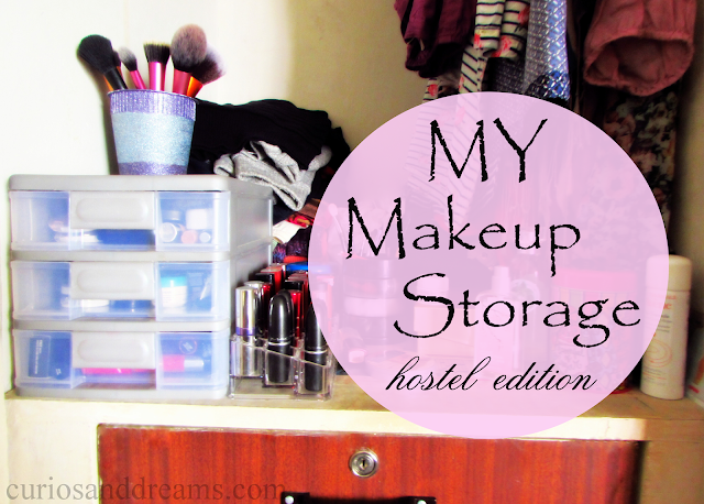 How I Store My Makeup in the hostel room