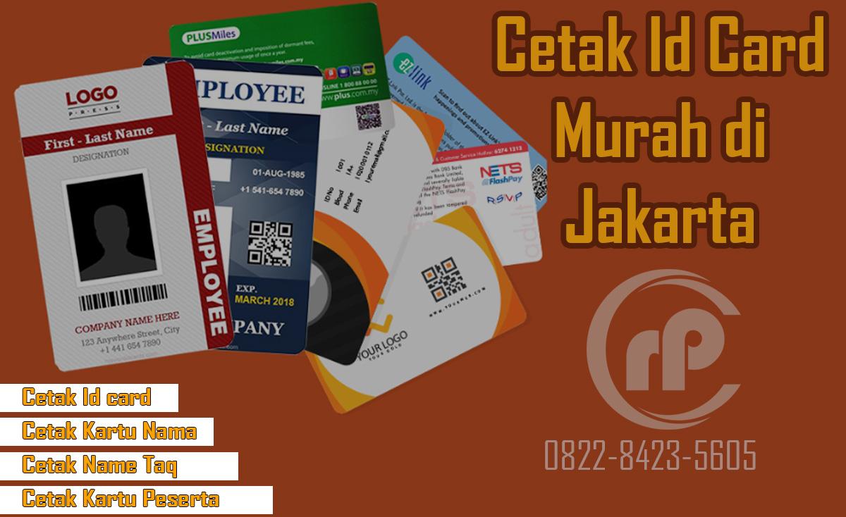 Jasa Cetak ID Card Murah di Pramuka Jakarta Pusat