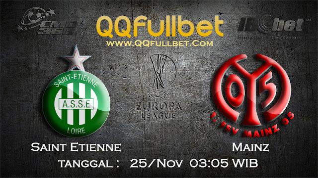 PREDIKSIBOLA - Prediksi Taruhan Bola Saint Etienne vs Mainz 25 November 2016 (UEFA Europa League)