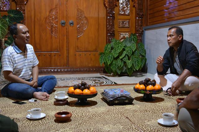 Bahas ketahanan pangan Bupati Lombok Barat undang Danlanal Mataram.