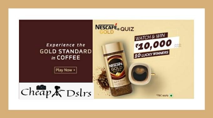 Amazon Nescafe Gold Quiz Answers Win – Rs.10,000 Pay Balance