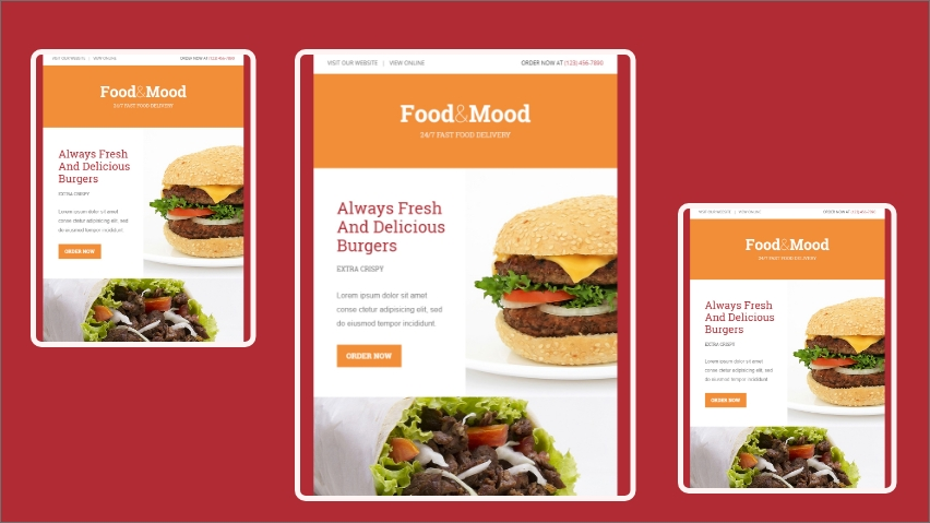 Food and Mood email template