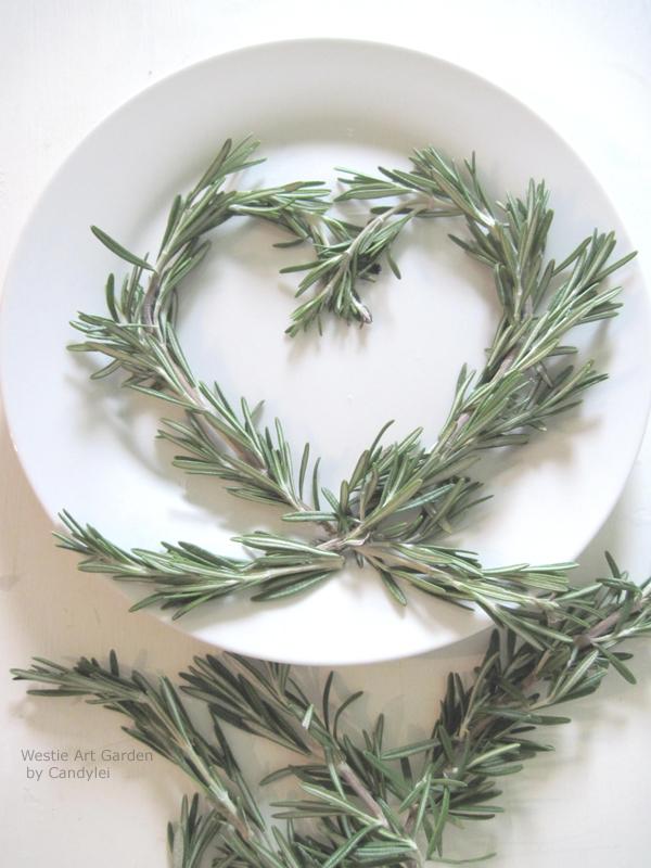 Westie Art Amp Garden White Plate Herb Garnishes