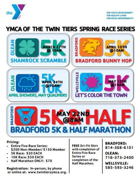 4-24 YMCA Twin Tiers 5k Races