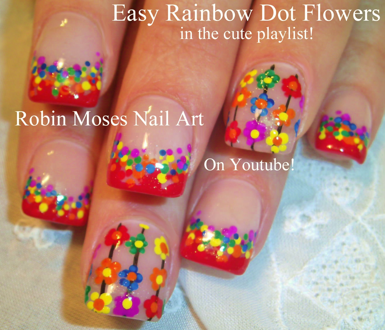 Nail Art For Beginners Youtube: Robin Moses Nail Art: Rainbow Animal Paw Prints! Super
