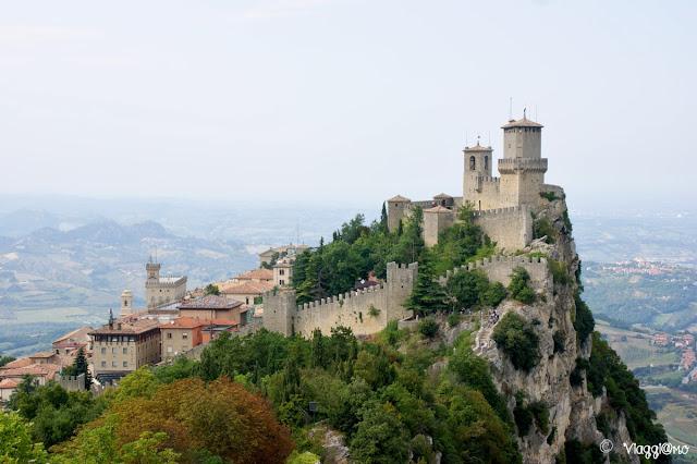 Vista panoramica su una delle torri di San Marino