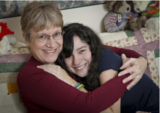 Image: Julie Morris, 59, with her daughter Maggie Fisher, 18. Morris's husband died when Maggie was 14. I can look back and say my mom did a really good job – and I can do a good job too