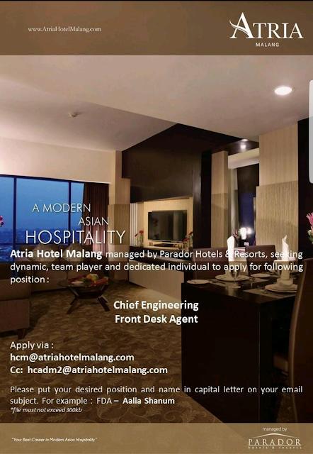 Lowongan Kerja Hotel Malang