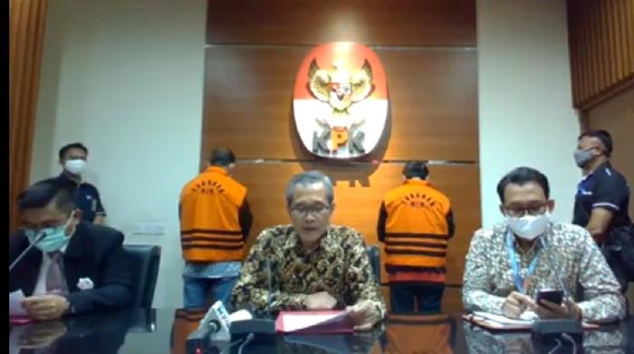 KPK Tahan Tersangka Suap Ketua DPRD-Plt Kadis PUPR Muara Enim