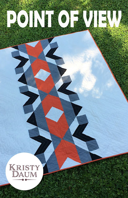 POINT OF VIEW Quilt Pattern // Kristy Daum #quiltpattern #quilt #quilting #modernquilt #sewing