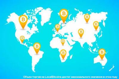 Объем торгов на LocalBitcoins достиг максимального значения в этом году