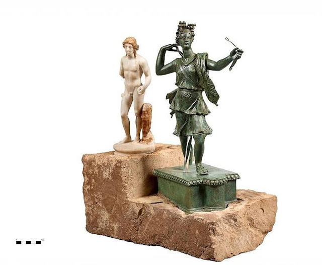 Statues of Artemis and Apollo discovered at ancient Aptera