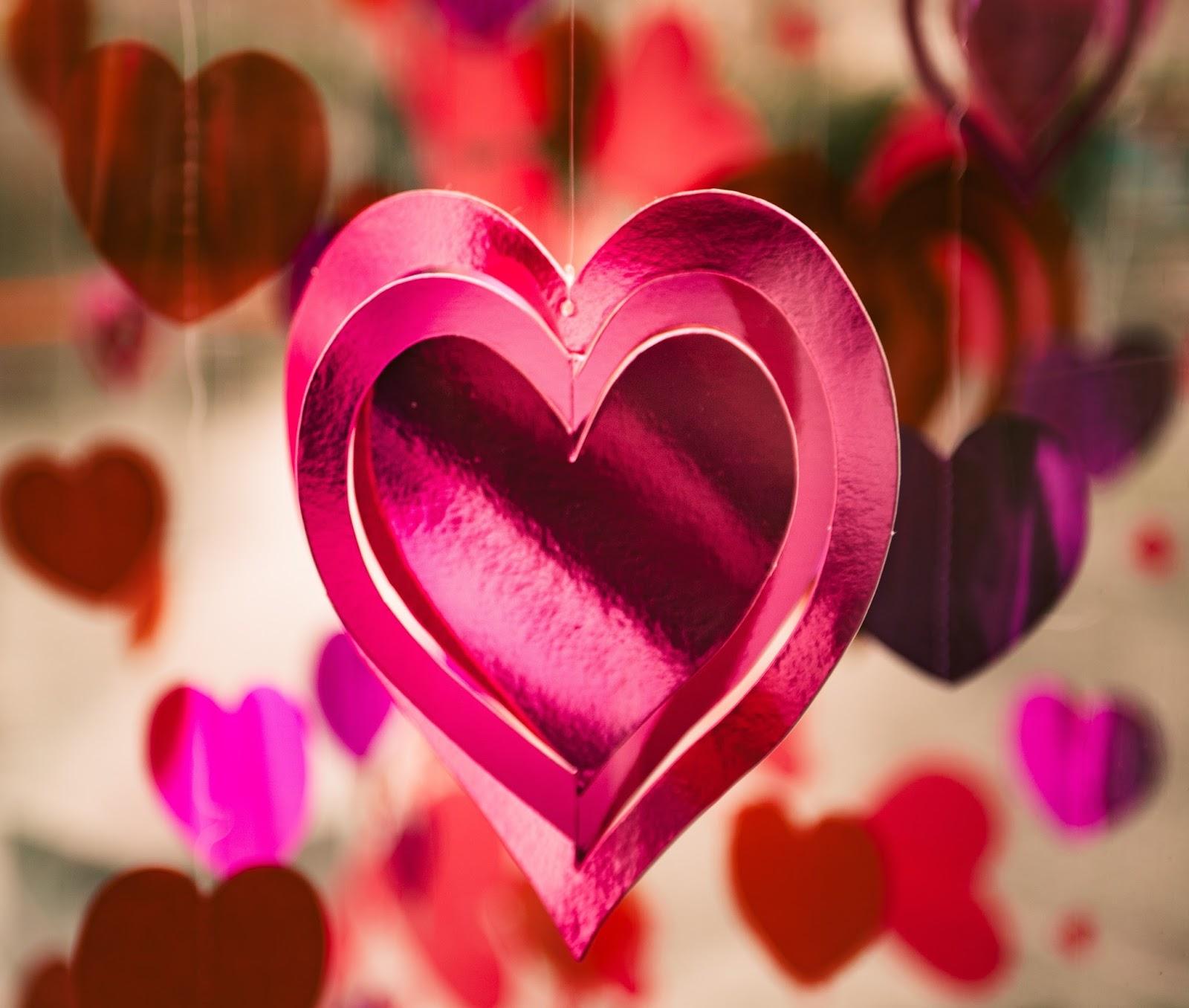 Purple heart hanging decoration