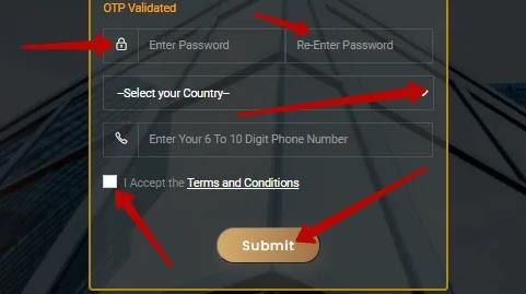 Регистрация в Tradeunos 2