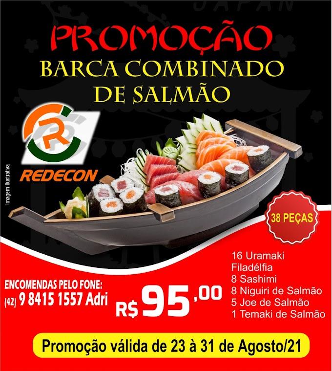 PROMOÇÃO REDECON: Barca Combinado de Salmão