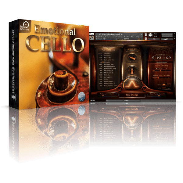 Best Service Emotional Cello KONTAKT Library