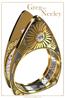 Greg Neeley Hopi Pottery ladies diamond ring #brilliantluxury
